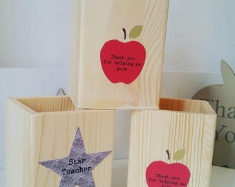 Teacher Gift Pen Holder Pot - Can be personalised