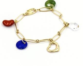Tiffany & Co. Elsa Peretti Five-Stone Charm Bracelet in 18k Yellow Gold