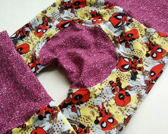 Deadpool Inspired Maxaloones ~ Cloth Diaper Pants ~ Grow With me Pants ~ Baby Leggings ~ Baby Wearing Pants 3m,6m,12m,24m,3T,4T,5T,