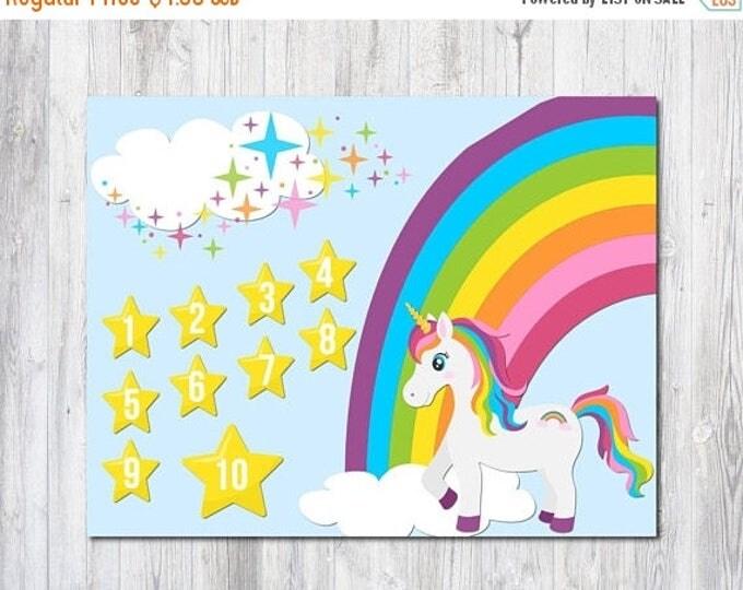 Sale Unicorn Reward Chart - 2 Unicorn Prints - Unicorn Birthday - Behavior Chart - Kids Chore Chart - Room Decor - Rainbow Unicorn - Countin