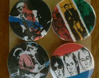 The Jam - Paul Weller - Mod - 4 pin button badge set