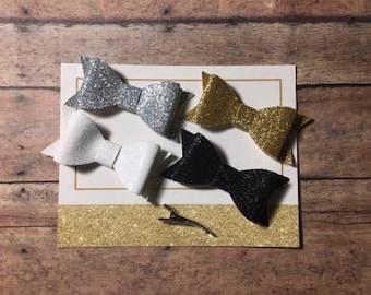 4 pack glitter clips