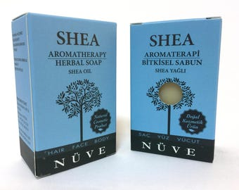 Nuve Shea Oil Soap - Handmade Aromatherapy Herbal Collection - All Natural With Olive Oil (110 gr. / 4 oz.)