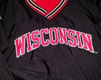 Vintage Wisconsin Badgers Windbreaker Champion Jacket - Size XXL - Pullover Jacket