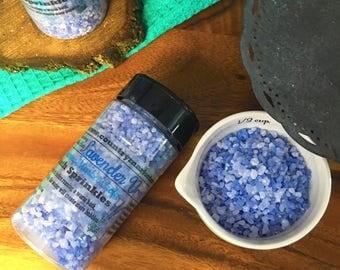Lavender Vanilla - Bubble Bath Sprinkles - Bubbling Salt Soak - Vegan Friendly Bubble Bath - Valentines Day Gift
