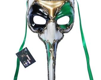Green Venetian Long Nose Mask Masquerade Ball Prom Party Mardi Gras Halloween Costumes Wedding Decoration 11E4A, SKU 7K23