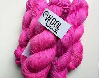 SALE Hand dyed sock yarn, Colour GEEK,  4ply finger weight superwash MERINO and bamboo 100g. ethically sourced