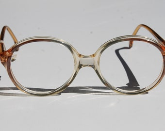 vintage lunettes LILLIPUT by TRENTI 48-16 kids' clear pearly dusky pink accent  small almost round eye/sunglasses frames made in Italy New