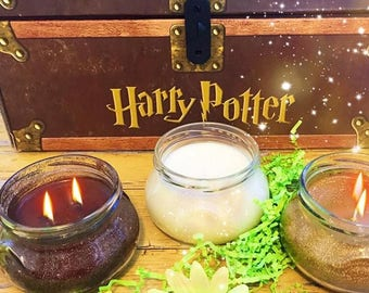 Harry Potter Potions Trio / Harry Potter Candles / Book Candles / Literary Candles / Polyjuice / Felix Felicis / Veritaserum / Glitter Candl