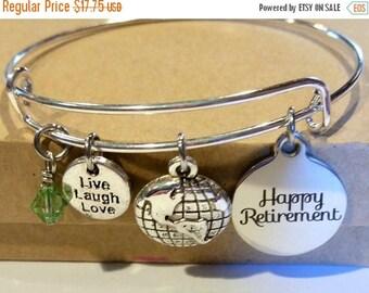 ON SALE Happy Retirement - retirement bracelet - retirement gift for woman - retirement jewelry - we'll miss you - happy retirement gift for