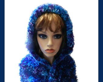 Hand knitted Hood Scarf  V5654
