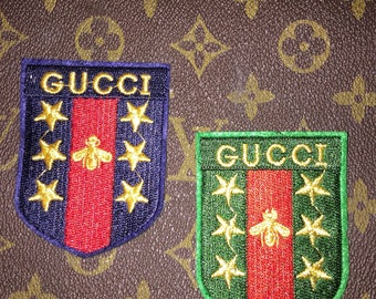 Gucci set of 2 Iron On patches Gold Stars