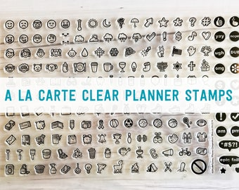 planner stamps, bullet journal stamps, planner Icons, planner icon stamps, PICK 5 (A la Carte)