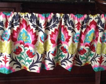 SALE: Valances (54' X 16')  unlined WAVERLY Desert flower Santa Maria high quality fabric