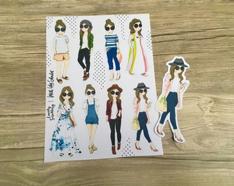 Miss Lily Shades fashionista stickers / cutout