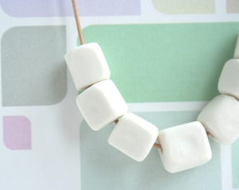 Sugarlumps - sugar cube pendant leather band