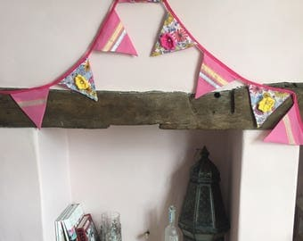 3m floral Double sided bunting