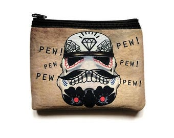 Coin Purse Day of the Dead Stormtrooper