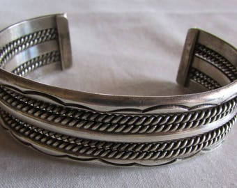 Sterling Silver Southwest Navajo Style Cuff Bracelet