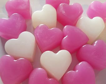 Heart Bridal Shower Soap Party Favors - Cottage Chic for Romantic Love Theme Wedding, Bridal Shower, Valentine's Day Guest | Pack of 25