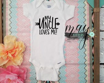 My uncle etsy custom i love my uncle my uncle loves me uncle bodysuit personalized jumper negle Images