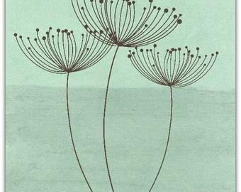 Double 'the dandelion' original design handmade 15cm x 15cm