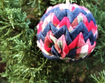 SALE- Quilted Christmas ornament