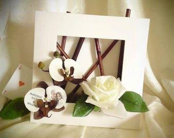 Chocolate plant frame / white