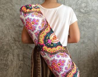 Vegan Yoga Bag / Yoga Mat Bag / Pilates Mat Bag / Gift for friends / mandala