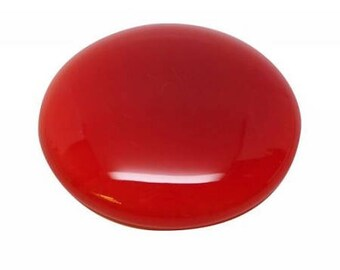 Carnelian Cabochon Stones - Round - 15 or 20 mm - 2 pc