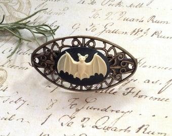 Bat Bronze Barette