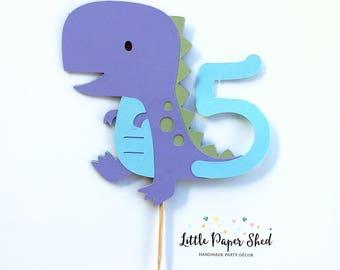 Handmade Age Cake Topper - Dinosaur Theme x1