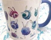 2 LEFT! Blue Bumble Rumble Mug Coffe Cup