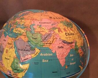 Colorful Globe Halves