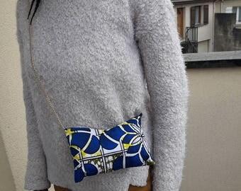 Wax blue purse