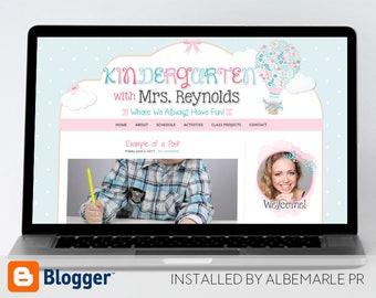 Premade Blogger Template // Blogspot Template // Teacher Blog Template - Mrs. Reynolds
