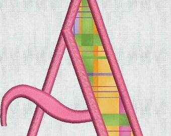 HUGE SALE Instant Download Embroidery Machine Designs Applique 26 Files Font Monogram Alphabet  PES Format