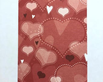 Red Valentine Hearts - Travelers Notebook Laminated Dashboard - B6 size