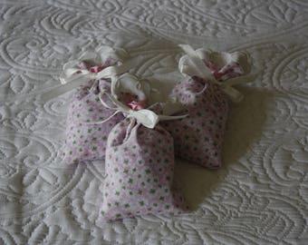 Perfume set Lavender bath salts of three pouches