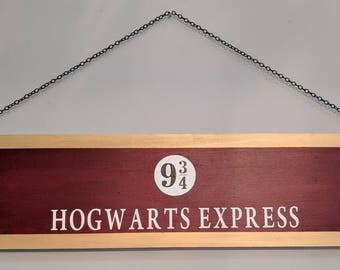 Hogwarts Express Wood Sign | Wall Hanging | Harry Potter | Wizarding | Platform 9 3/4