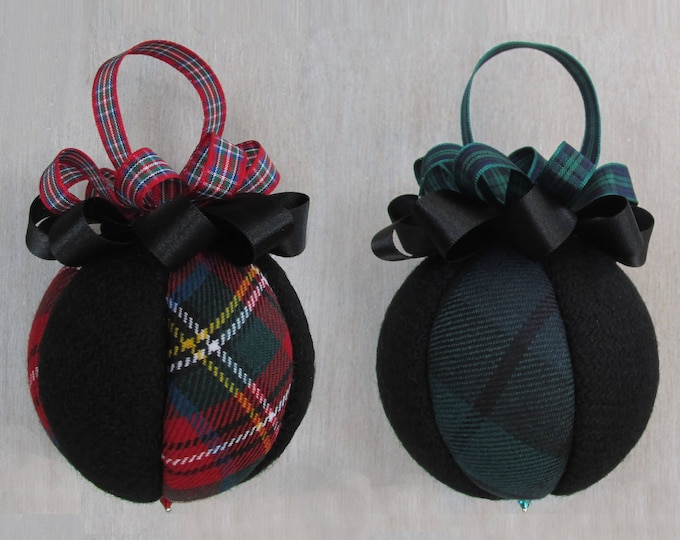 Harris Tweed & Tartan Handmade Luxury Christmas Tree Bauble
