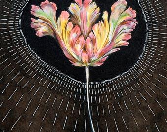 Watercolour Art Print - In Bloom