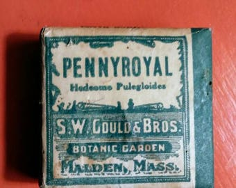 Antique packaged pennyroyal