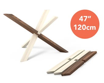 1x2 1 Dining Table Legs For 47 120cm Top Table Base