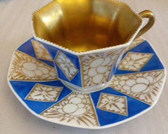 beautiful Mocha Cup around 1950 from Traunreuth