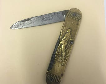 Stunning coursolle pocketknife with pick ! In great condition for age !