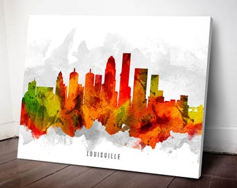 Louisville Skyline Canvas Print, Louisville Art, Louisville Cityscape, Louisville Art Print, Home Decor, Gift Idea, USKYLO15C
