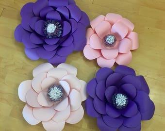 Purple! Giant Paper Flowers, paper flowers, wall decor, wedding decor, baby nursery
