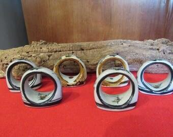 Ceramic Napkin rings from Mexico