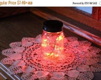 July Sales Event Mason Jar Solar Fairy Light - 10 LED Red Angel Lights - Firefly Lights - solar mason jar, fairy lights, mason jar solar lig